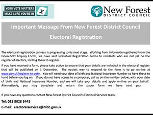 Important Message From NFDC Electoral Registration