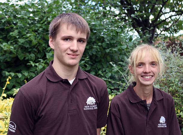 Apprentice Rangers Joe Ison and Katherine Argyrou.