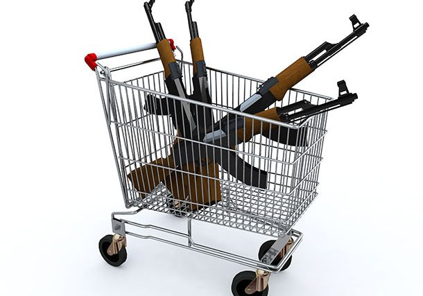 guns-in-a-shopping-trolley