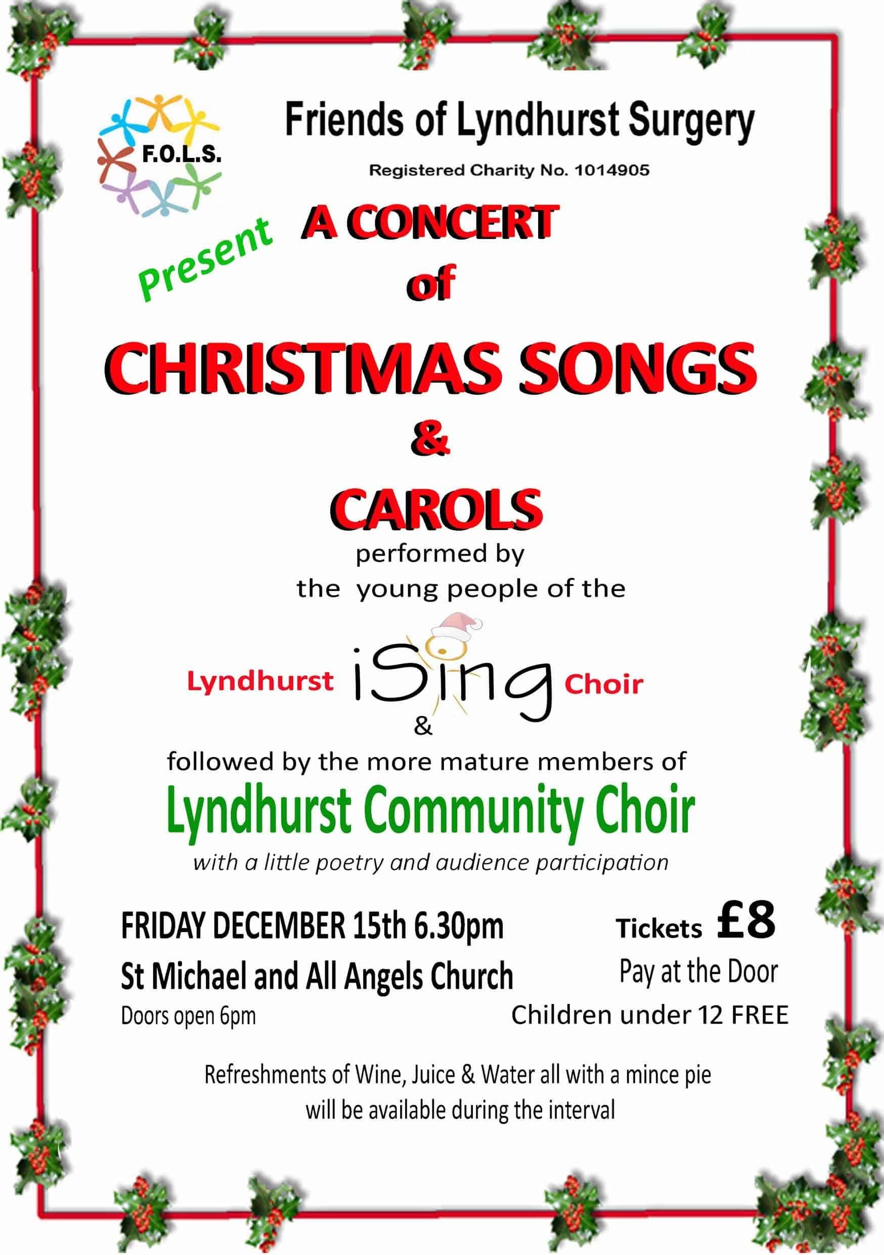 A Concert of Christmas Songs & Carols